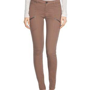 WHBM tan moleskin skinny jeans 12R